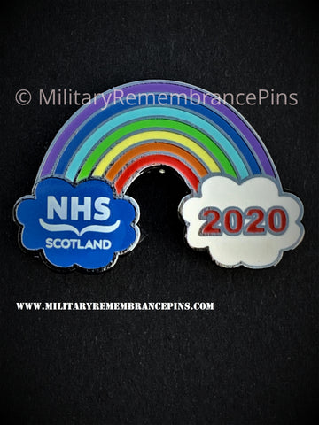 NHS Scotland Rainbow 2020 Support Lapel Pin