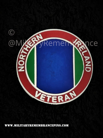 Northern Ireland Colours Veterans Lapel Pin