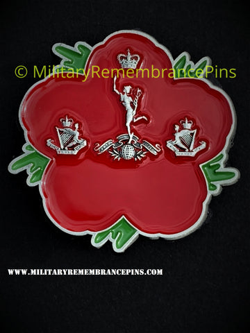 North Irish Horse Signal Squadron Remembrance Flower Lapel Pin