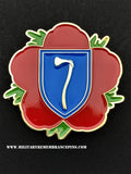 Northern Army Group Remembrance Flower Lapel Pin