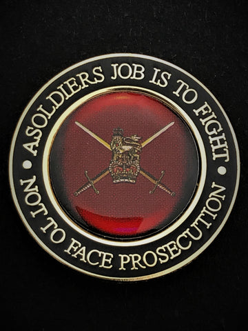A Soldier's Job Is To Fight Colour Lapel Pin