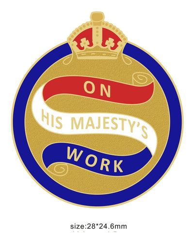 On His Majesty's Work OHMW Colours Lapel Pin