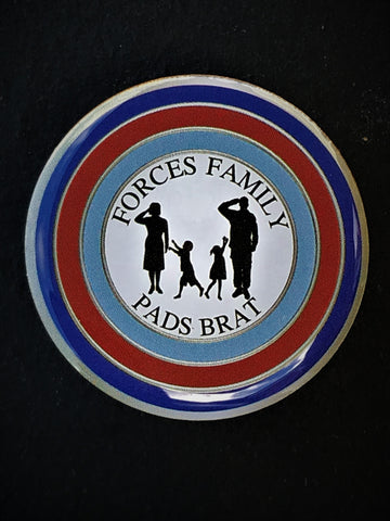 Pads Brat Forces Family Colours Lapel Pin