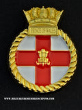 HMS Prince Of Wales RO9 Royal Navy Ships Crest Lapel Pin