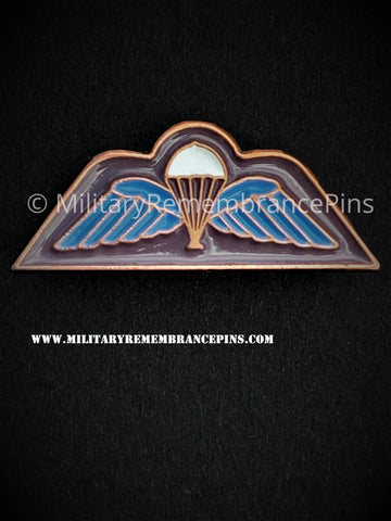 British Army Parachutist Wings Trade Patch Lapel Pin