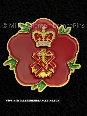 Queen Alexandra's Royal Naval Nursing Service Remembrance Flower Lapel Pin