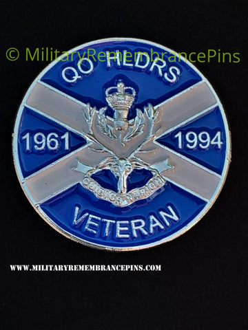 Queen's Own Highlanders Veteran Colours Pin