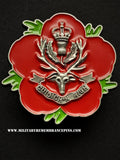 Queen's Own Highlanders Remembrance Flower Lapel Pin