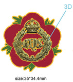 2nd Dragoon Guards Queen's Bays Remembrance Flower Lapel Pin