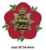 Queen's Royal Surrey Regiment Remembrance Flower Lapel Pin