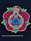 Royal Army Chaplains' Department  RAChD Remembrance Flower Lapel Pin