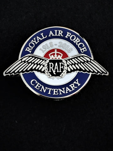 Royal Air Force Centenary 100 Years Round Colours Lapel Pin
