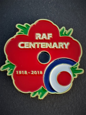 Royal Air Force 100 Years RAF Remembrance Flower Lapel Pin