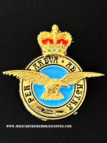 RAF Royal Air Force Per Ardua Ad Astra Lapel Pin