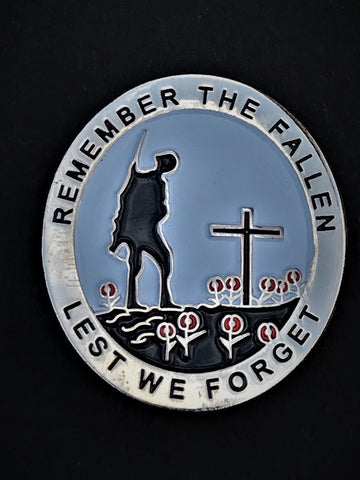 Remember The Fallen Lest We Forget War Conflict Lapel Pin