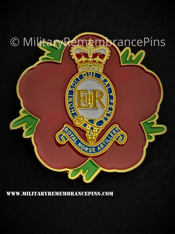 Royal Horse Artillery RHA Remembrance Flower Lapel Pin
