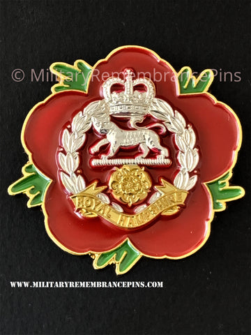 Royal Hampshire Regiment Remembrance Flower Lapel Pin