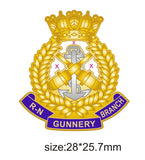 Royal Navy Gunnery Branch Crest Lapel Pin