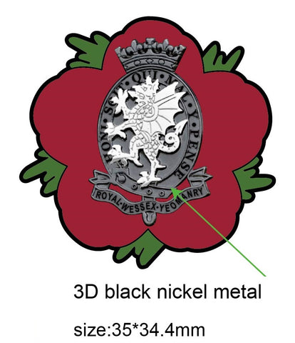 Royal Wessex Yeomanry RWxY Remembrance Flower Lapel Pin