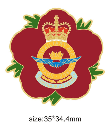 Royal Auxiliary Air Force RauxAF Remembrance Flower Lapel Pin