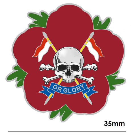 Royal Lancers RL Remembrance Flower Lapel Pin