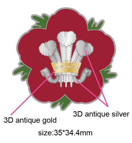 Royal Wiltshire Yeomanry RWY Remembrance Flower Lapel Pin