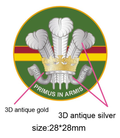 Royal Wiltshire Yeomanry RWY Unit Colours Lapel Pin