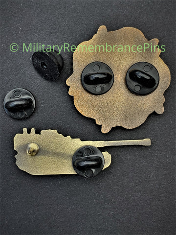 Black Rubber Rear Fasteners