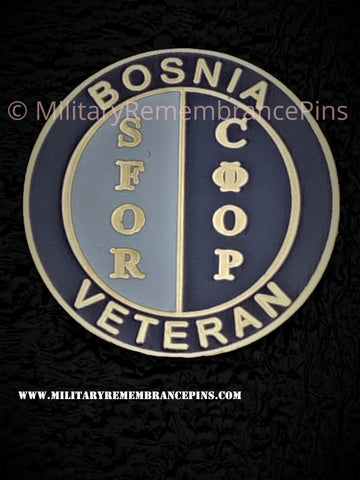 Bosnia SFOR Veteran Colours Lapel Pin