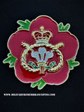 Staffordshire Regiment Remembrance Flower Lapel Pin