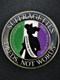 Suffragettes Deeds Not Words Support Lapel Pin