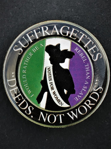 Suffragettes Deeds Not Words Support Lapel Pin (SUFF)