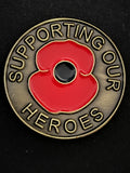 Supporting Our Heroes Round Lapel Pin