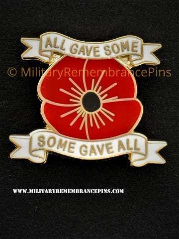 All Gave Some & Some Gave All Remembrance Lapel Pin