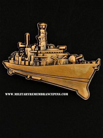 Type 23 Duke Class Frigate Royal Navy Ship Lapel Pin