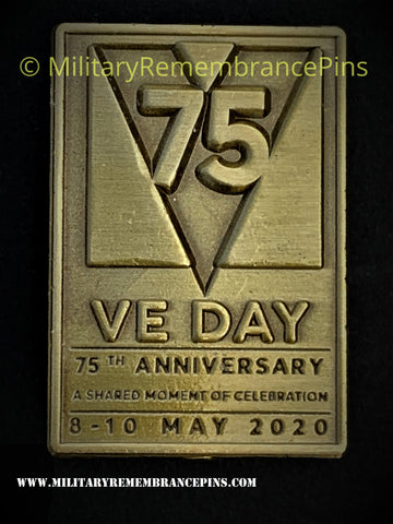 75th Anniversary Victory In Europe VE Day Lapel Pin