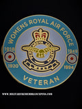 Women's Royal Air Force Veterans Round Colours Lapel Pin