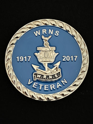 Women's Royal Navy Service WRNS 100 Years Lapel Pin