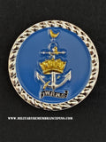 Women's Royal Navy Service WRNS Colours Lapel Pin