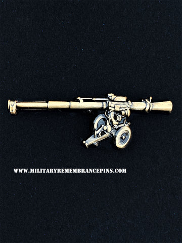 Wombat 120mm BAT Recoilless Rifle Lapel Pin