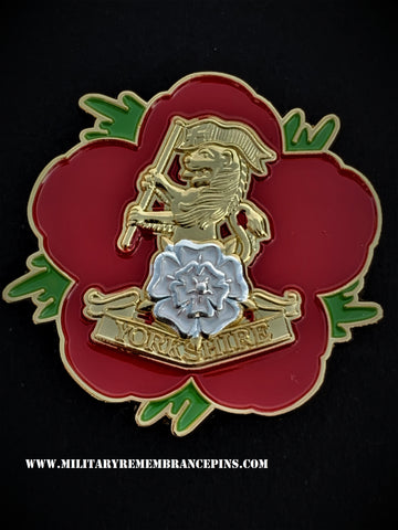 Yorkshire Regiment Remembrance Flower Lapel Pin