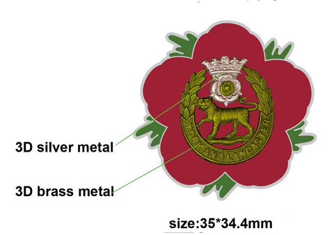 York and Lancaster Rehiment Remembrance Flower Lapel Pin