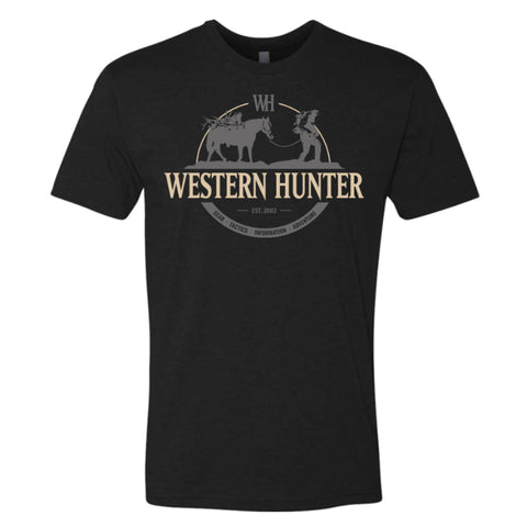 Black Western Hunter Stock Line Tee