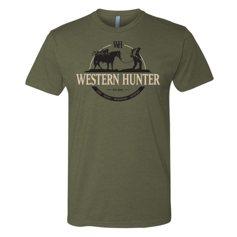 Military Green Western Hunter Stock Line Tee