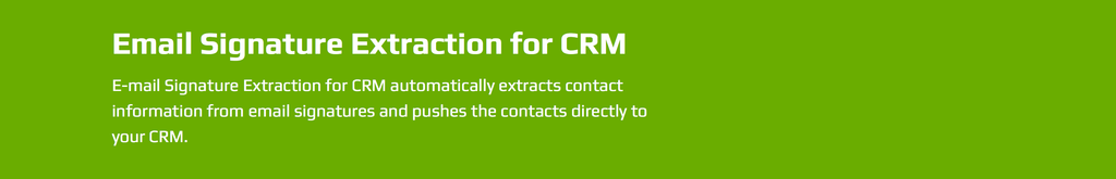 Email Signature Extraction for CRM