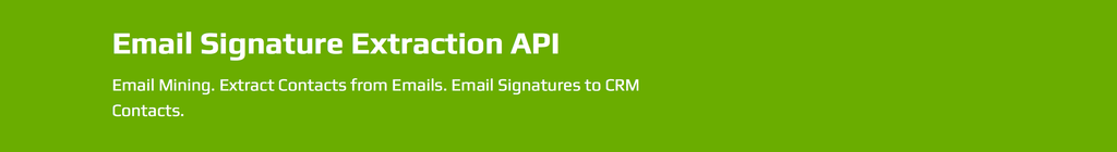 Email Signature Extraction API