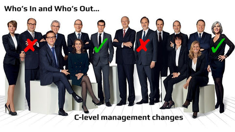 Who's In and Who's Out in Chief-Level Management Positions Across the Business World