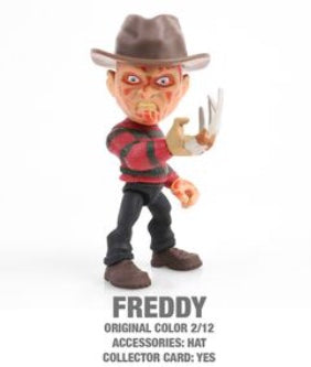 "Freddy Horror 3.25"" Figures with Accessories and collector Cards!"