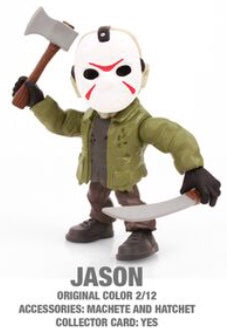 "Jason Horror 3.25"" Figures with Accessories and collector Cards!"