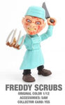 "Freddy Scrubs Horror 3.25"" Figures with Accessories and collector Cards!"